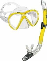 Mares Snorkel Mask, Scuba Snorkel Swim Set, Anti-fog Tempered Lens Goggles Mask