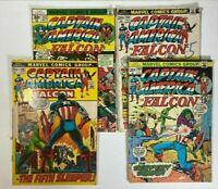 Captain America And Falcon Comic Lot 4 Comics: 148 156 163 213 Marvel Low Grade