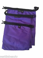 Purple 3pcs waterproof dry storage sack bag Canoe Boating Floating Camping