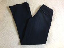 Saltworks New York City Boot Cut Dark Blue Jeans Med Rise Trouser Women Size 6