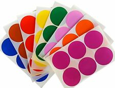 "Circular Colored Coding Stickers 2"" Assorted Colors Round Dot Stickers 192 Pack"