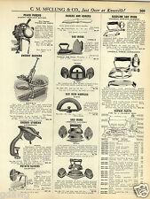 1931 PAPER AD Gas Gasoline Coleman Sad Iron Parts Repair Price List