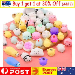 10/50PC Cute Animal Squishies Kawaii Mochi Squeeze Toys Stretch Stress Squishy