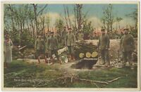 Soldiers Building Bunker Shelter Militaria German WW1 Postcard (467)