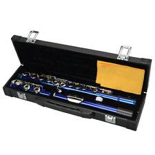 New Woodwind Blue 16 hole Closed C key Professional School Student Band Flute