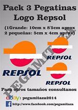 3 x Pegatinas Repsol Sticker Vinilo adhesivo motocicletas , casco, coche, custom