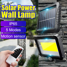 120 LED Outdoor Solar Power Motion Sensor Wall Light Waterproof Garden Yard Lamp