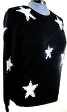 Torrid Textured Star Graphic Pullover Sweater Black White Knit Sz 2 2x 18 20