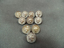 Pack Of 10 Small 15mm Dark Brown Plastic Fox Head Design Buttons