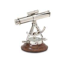 Nautical Brass Alidade Telescope Compass
