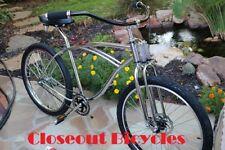 "26"" MonarkT Bicycle Chrom DUAL SPRINGER FORK RatRod Chopper Vintage Cruiser Bike"