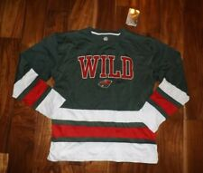 NWT Official Licensed NHL MINNESOTA WILD Hockey Green Jersey Shirt L Large