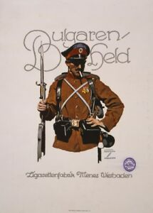 Bulgarians Hero; Cigarette factory - German WW1 Propaganda Poster