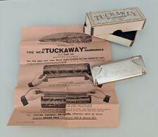 Vintage 1920's M Hohner Tuckaway Harmonica German With Box and Original Manual