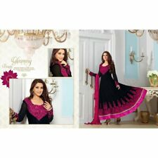 Black Faux Georgette Embroidered Salwar Suits 31030