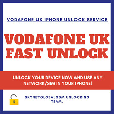FAST NETWORK SIM UNLOCK SERVICE for VODAFONE UK iPhone 11 Pro 11 XS XS MAX X ALL