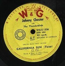 "JOHNNY CHESTER With THE THUNDERBIRDS   Rare 1961 Aust Only 7"" Single ""Cal Sun"""