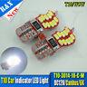 2X T10 W5W 3014 20 SMD Car LED Strobe CANBUS Wedge Side Light Reading Bulb White