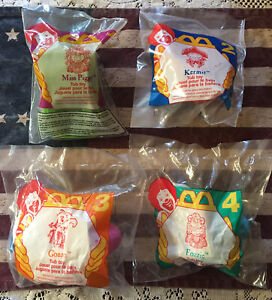 Muppet Treasure Island Tub Toy  McDonalds Happy Meal Complete Set of 4 NEW 1995