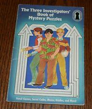 THE THREE INVESTIGATORS' BOOK OF MYSTERY PUZZLES 1982 Random House PB