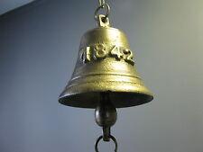 Grand Cloche Sonnette de Porte Gussglocke 1842 Cloche de Navire 12cm 1,8 KG
