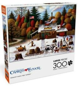 Charles Wysocki Vermont Maple Tree Tappers 300 Large Piece Puzzle New Buffalo