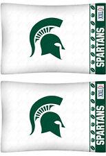 Michigan State Spartans Pillow Cases NCAA Pillowcase Bedding