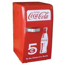 Coca Cola Coke Mini Refrigerator Compact Can Soda Fridge Cooler Portable Dorm Rm