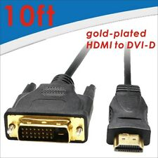 5pcs High speed HDMI to DVI-D Monitor Display Adapter Cable M-M PC HD HDTV 10FT