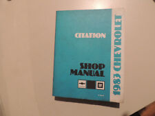 Chevrolet Citation 1983 Shop Workshop Service manual Werkstatthandbuch