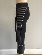 LORNA JANE Black Side Striped Tights S