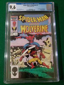 Spider-Man vs Wolverine 1 CGC 9.6 White 1987 Hobgoblin 1st Charlemagne