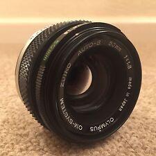 Olympus OM-System Zuiko Auto-S F1.8 50mm Prime Lens - Excellent