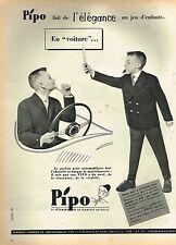 E- Publicité Advertising 1958 Pret à porter costume pour enfants Pipo