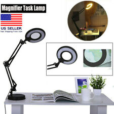 Desk Clamp Magnifying Lamp Workbench Light 5 Diopter Magnifier Swivel Adjustable