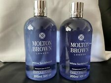 Molton Brown 2 x 300ml White Sandalwood Body Wash Shower Gel NEW