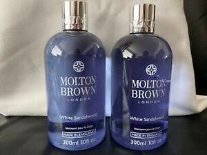 Molton Brown 2 x 300ml White Sandalwood Body Wash Shower Gel NEW
