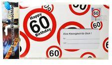 Riesen-Umschlag 60 Umschlag 60. Geburtstag Geldgeschenk Gutschein