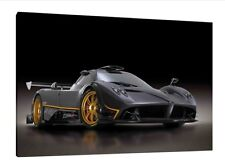 Pagani Zonda R - 30x20 Inch Canvas Art - Framed Picture Print Wall Art