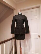 Armani Exchange Gray Wool Blend Military Jacket, Shorts & Miniskirt Size Small/6