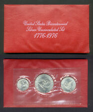 1776 - 1976 US Bicentennial Silver Uncirculated 3 Coin Set