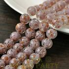 New 5pcs 12mm Lampwork Glass Dots Loose Spacer Round Beads Charms Purple