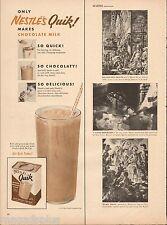 1954 Nestle's Milk Chocolate  Original Vintage Print Ad