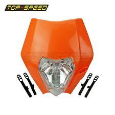 ORANGE FOR KTM ENDURO MOTOCROSS STREETFIGHTER HEADLIGHT ALIEN For Honda CT70 VTX