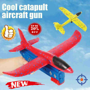 Airplane Launcher Toy, Catapult Plane Gun Outside Flying Launcher Toy Gift
