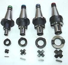 4 Kombiaufsteckdorne SK40 DIN2080  D16,22,27,32 z.B. für Deckel Fräsmaschine
