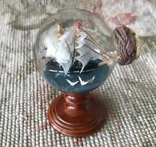 "SAILING SHIP IN A BOTTLE On A Stand 2 1/2"" Wide 3"" Tall 1197"
