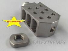 50 Cal Barrett style Tanker Muzzle brake 5/8x24 .308 308 300 AAC Stainless
