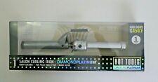 "NIB Hot Tools Diamond Platinum Salon Curling Iron 1"" Nano Ceramic Silver"