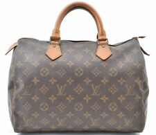 Authentic Louis Vuitton Monogram Speedy 30 Hand Bag M41526 LV A5092